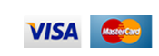 Visa and Mastercard via PayPal