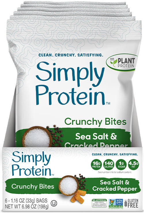 image of SimplyProtein™ Crunchy Bites - Sea Salt & Cracked Pepper