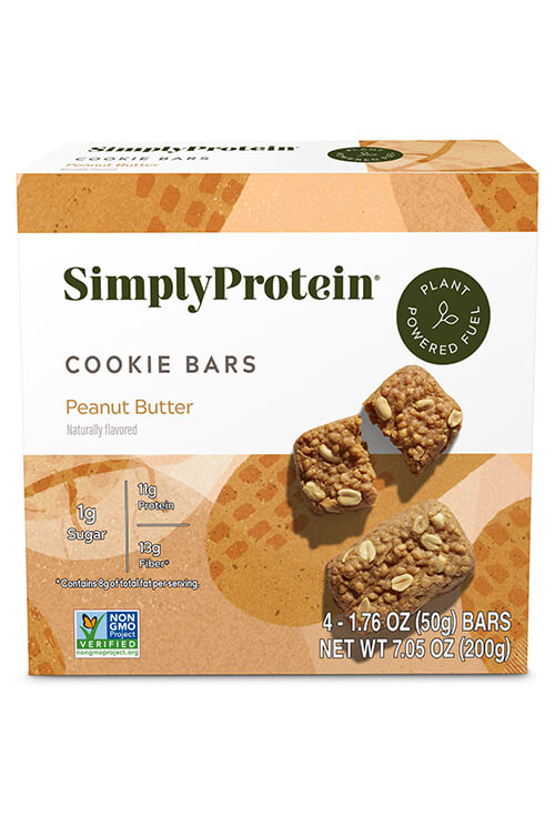 image of SimplyProtein® Cookie Bars - Peanut Butter Cookie (4-bar box)