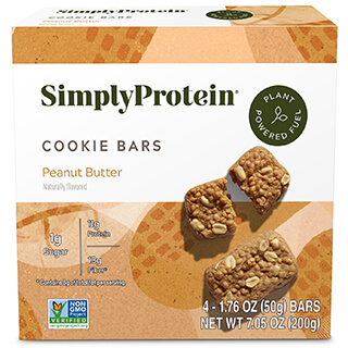 SimplyProtein® Cookie Bars - Peanut Butter Cookie (4-bar box) - Get More Information
